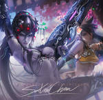 Black lily Widowmaker .nsfw vr. by sakimichan