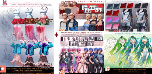 Fabric Simulation voice over painting guide.promo. by sakimichan