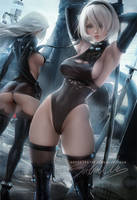 2B A2 Alt outfits by sakimichan