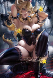 Bowsette pinup