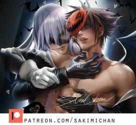 Kindgome Hearts Halloween .yaoi tag. by sakimichan