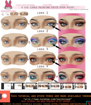 4 Eye Looks Voice Over Painting Tutorial .Promo.