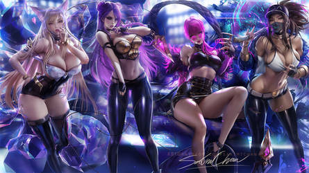 K/DA set by sakimichan