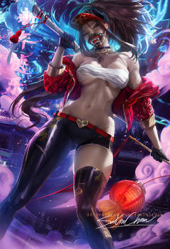 Lunar Kda akali .Happy lunar New years !