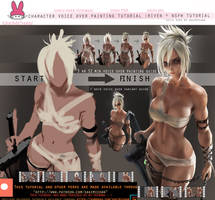Character voice over painting tutorial:Riven +nsfw by sakimichan