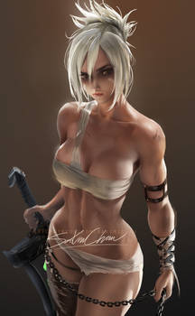 Riven pinup tutorial render