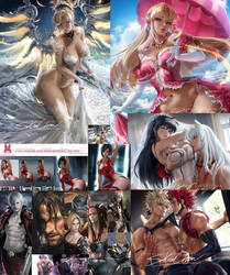 Patreon term 95 summary /JPG/PSD/Tutorial by sakimichan