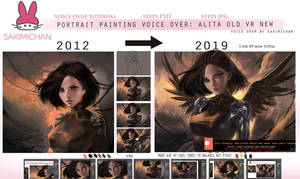 Portrait painting voice over :Alita rework by sakimichan