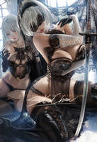 Full Lace 2b .alt vr. by sakimichan