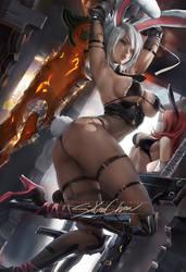 Battle Bunny Riven .alt vr. by sakimichan