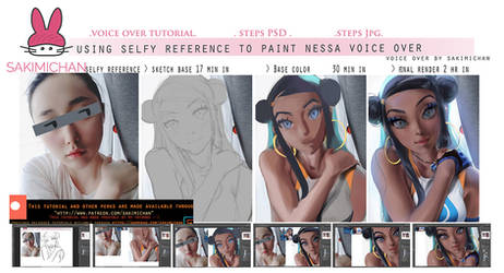 Self Reference Painting Tutorial .Promo. by sakimichan