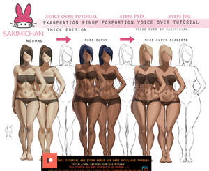 Exagertion pinup porportion voice over tutorial