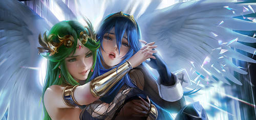 Palutena Lucina Ft corrin .censored preview.