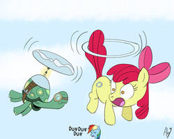 Flying Tanks and Apples by DatAhmedz