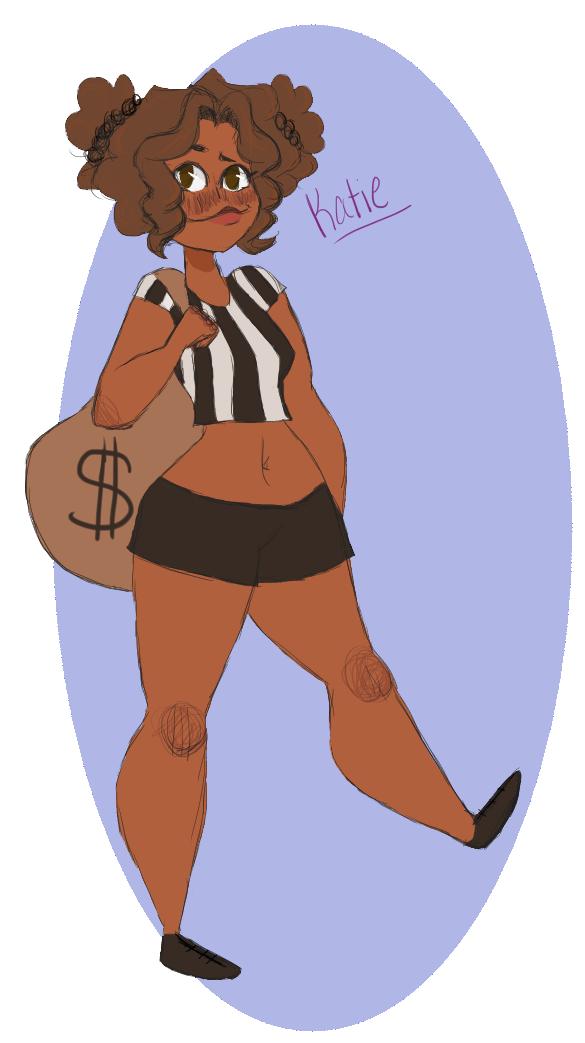 Katie the black burgler by sprinkles1766