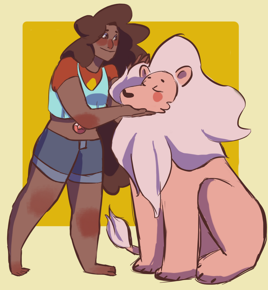 A very messy sketch of these cuties since I'm bingeing Steven Universe.