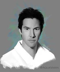 Keanu Study: Digital painting 16/??? by AquaVarin