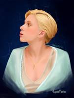 Scarlett Johansson study: painting 17/??? by AquaVarin