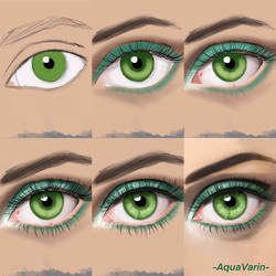 Eye painting process by AquaVarin