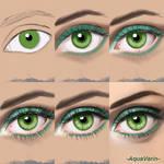 Eye painting process by AquaVarin
