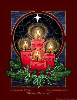 Winter Offering - Angela Sasser Line Art
