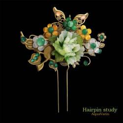 Oriental Hairpin : Digital study #27