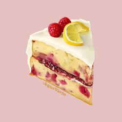 Lemon Raspberry Cake Study # 28