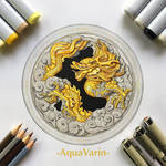 Golden Dragon Window - Smaugust 2021 by AquaVarin
