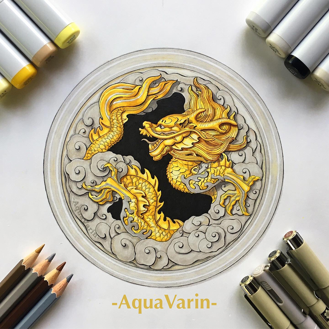 Golden Dragon Window - Smaugust 2021