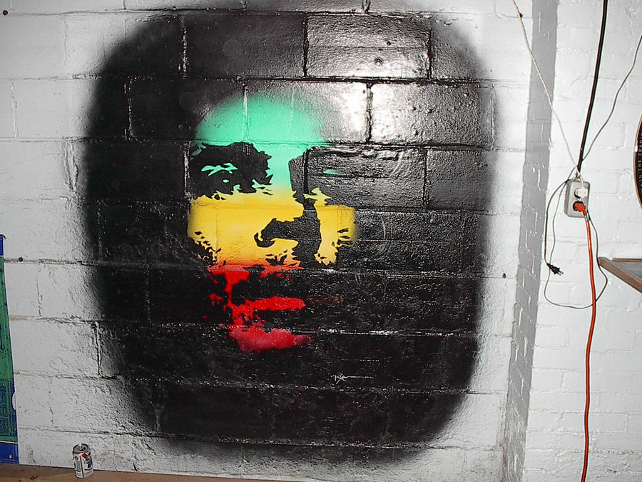 Marley wall mural by rynocreations on deviantart for Bob marley wall mural