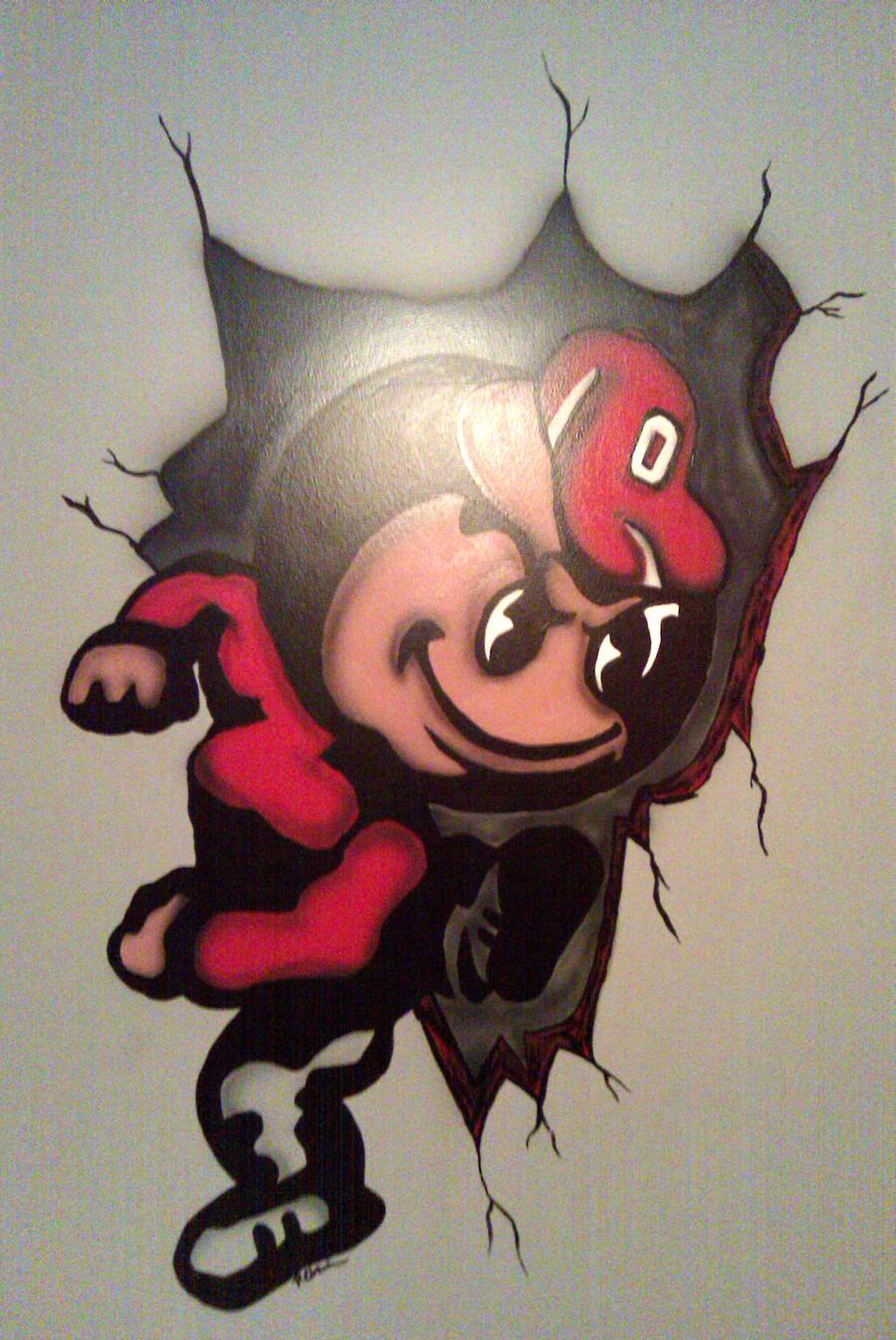 brutus buckeye wall mural by rynocreations on deviantart ohio state brutus buckeye mural by fathead