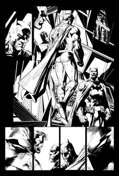 Superman Batman inks