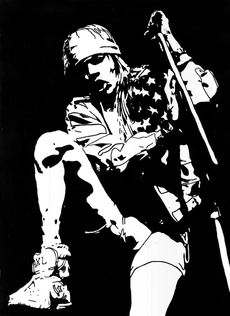 Very Old Work: Axl Rose 2 by IanDSharman