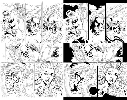 Inking Mike Collins pencils 1