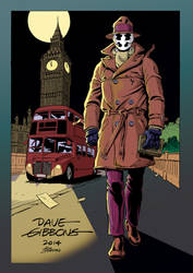LSCC Programme Cover by Dave Gibbons Colours by IanDSharman