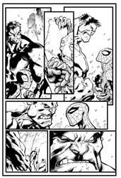 Avenging Spider-Man by Joe Madureira inks by IanDSharman