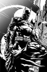 Batman The Dark Knight by David Finch Inks