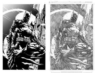Batman The Dark Knight by David Finch Inks and Pen