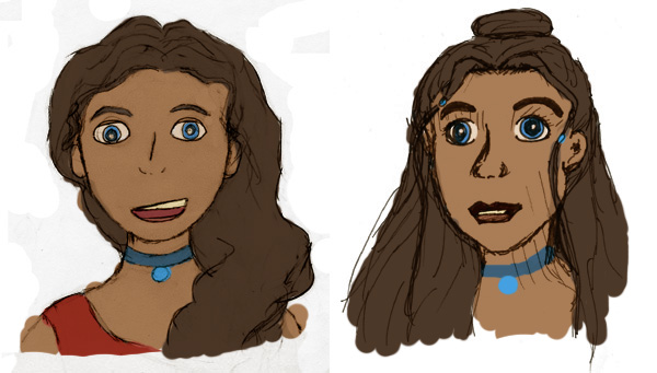 Katara face study 1 and 2 by rashaka