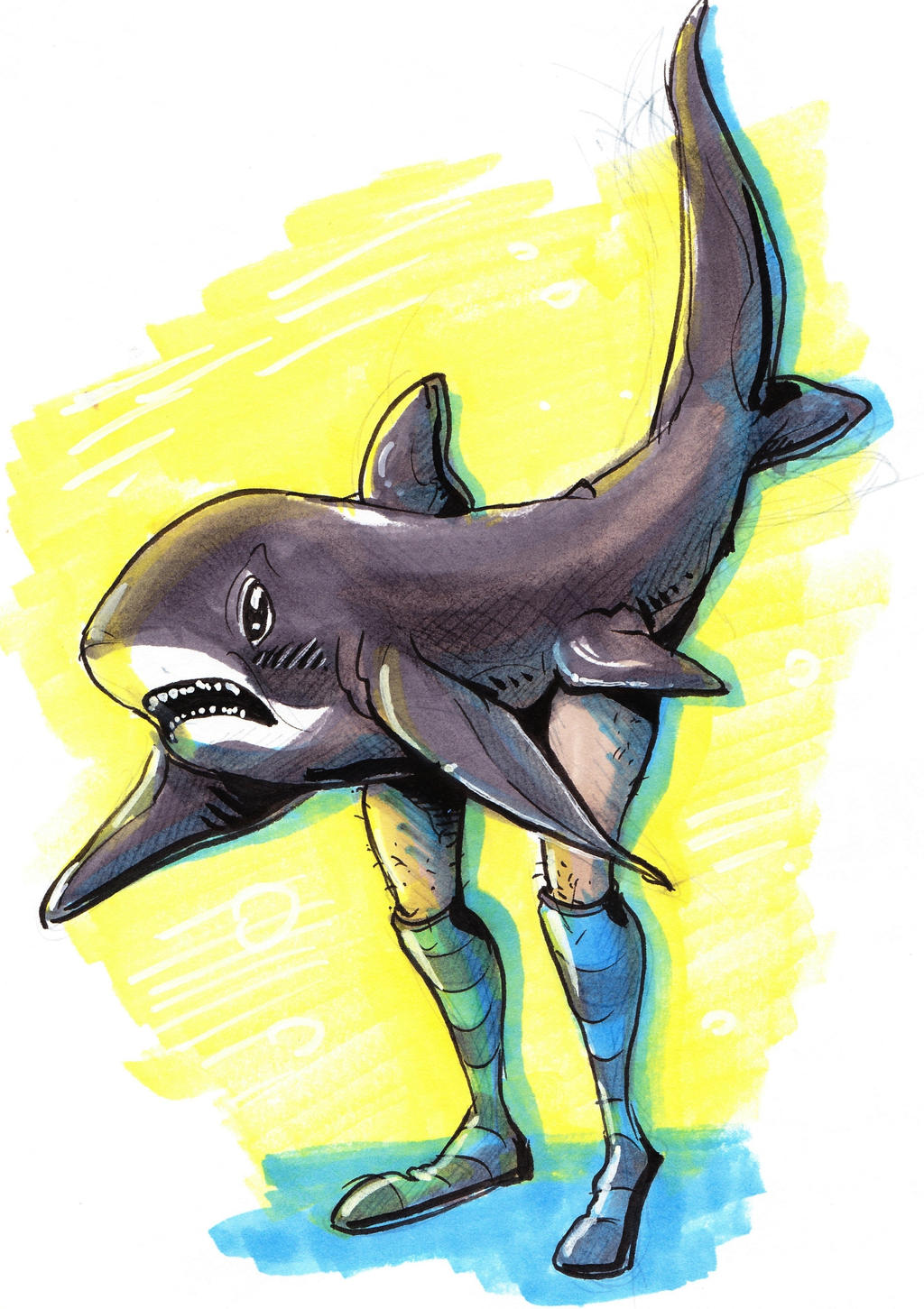 Shark with Legs by mrboogers on DeviantArt