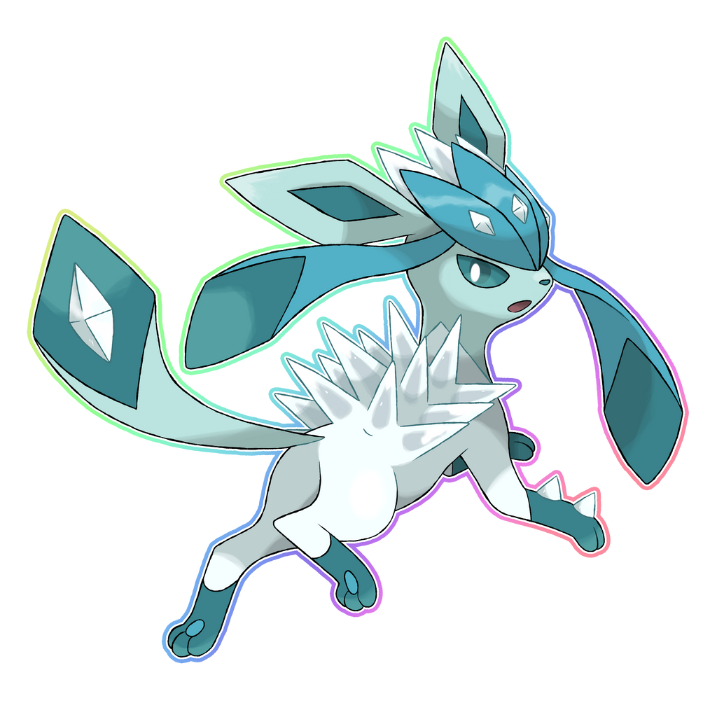 mega glaceon by lucas costa on deviantart