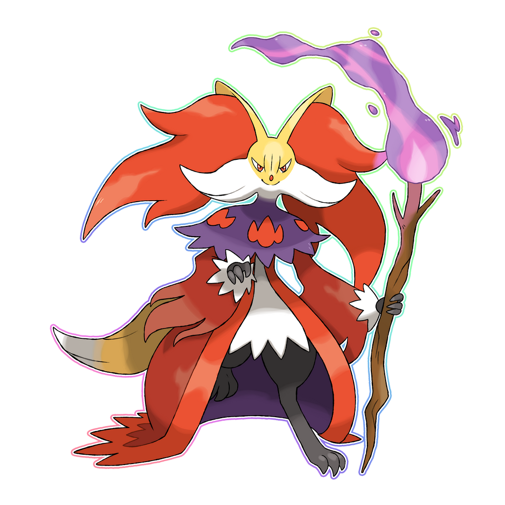 MEGA DELPHOX by Lucas-Costa on DeviantArt