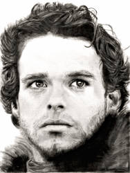 Drawing of Robb Stark, Game of Thrones by shuckaby