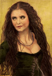 Nina Dobrev Colored Pencil by shuckaby