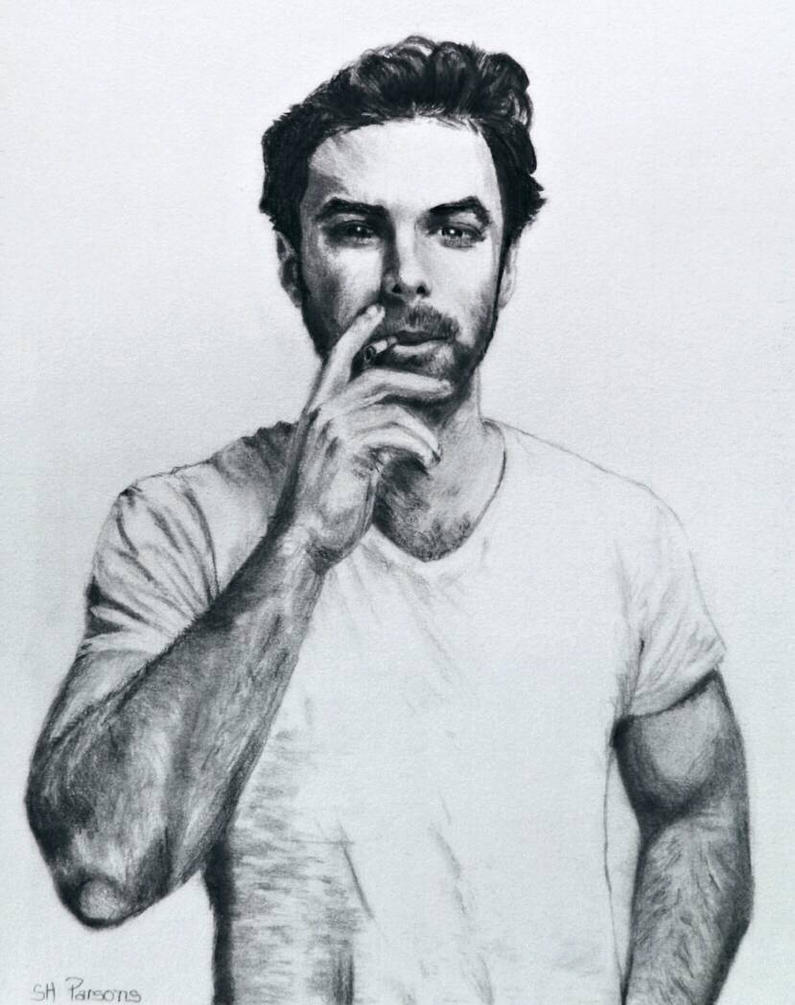 Pencil of Aidan Turner by shuckaby