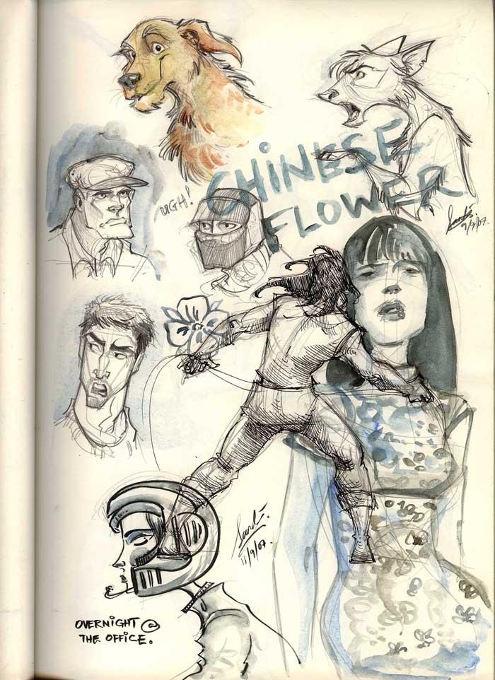 My Sketchjournal- China Doll by Sandora