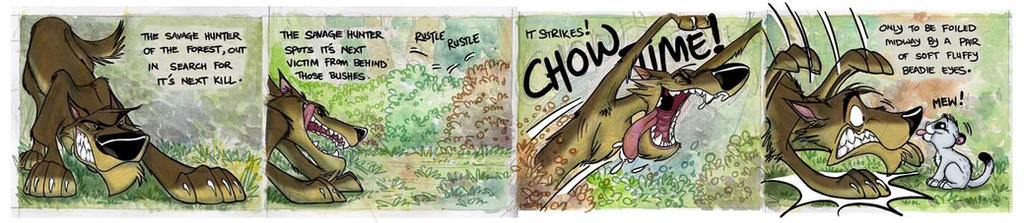 Claude and Chunkie strip 01 by Sandora