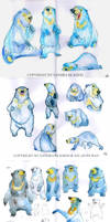 Bear Sketches 01 by Sandora
