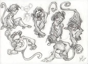 Monkeys by Sandora