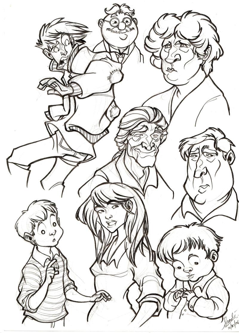 MnU Artbook Sketchpage by Sandora